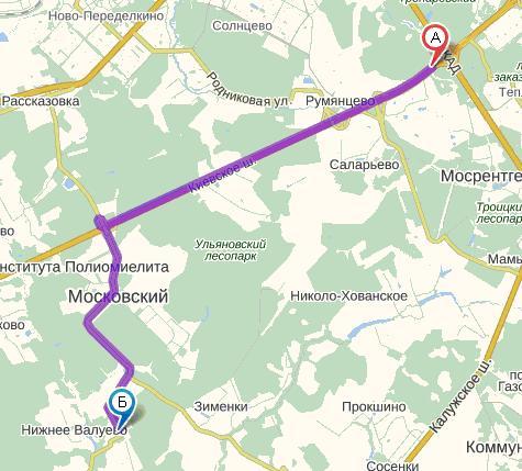 Схема проезда: по Киевскому